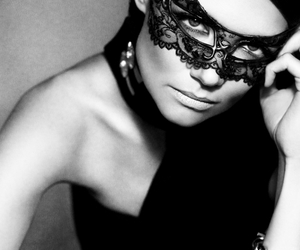 mask, Katie Holmes, and lace image
