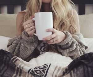 coffee, cozy, and blonde image