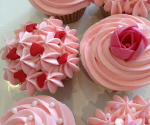 cupcakes, desserts, and pink image