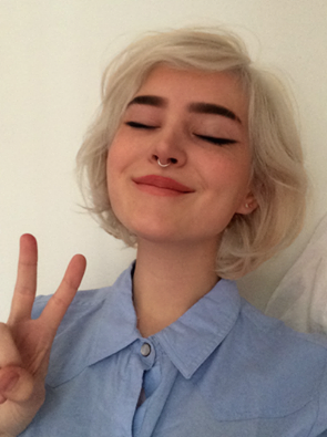 girl, blonde, and grunge image