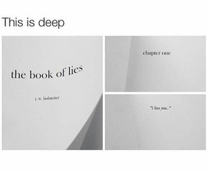 love, book, and lies image