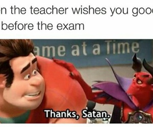 exam, funny, and in the image
