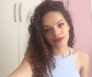 brazilian, cachos, and curly hair image