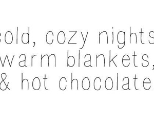 cold, cozy, and hot chocolate image