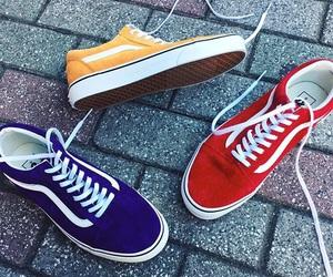 old skool, sneakers, and vans image