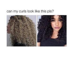 curls, hairstyle, and long hair image