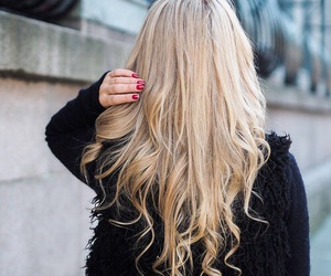 hairstyle, blonde, and fashion image