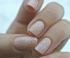 nails, christmas, and snowflake image