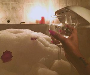 nails, bath, and drink image