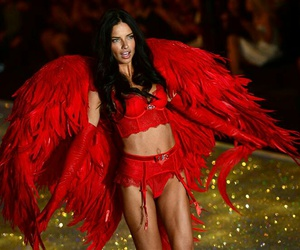 Adriana Lima, angel, and red image