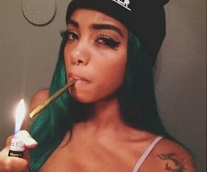 beauty, blunt, and greenhair image