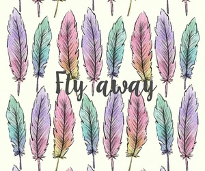 wallpaper, fly, and feather image
