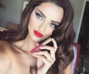persan, iranian model, and lovely makeup image
