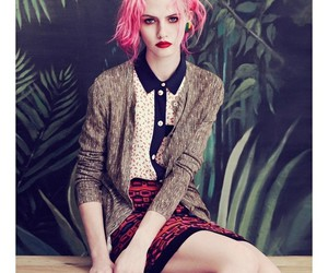 model, photoshoot, and pink hair image