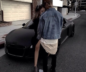 justin bieber, couple, and car image
