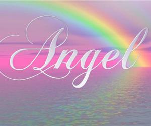 angel, pink, and rainbow image