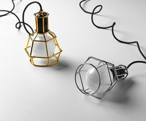 black, design, and lamps image