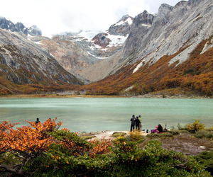 autumn, mountains, and trail image