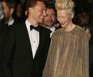 Tilda Swinton, loki, and tom hiddleston image