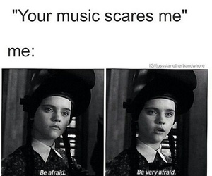 music, funny, and afraid image