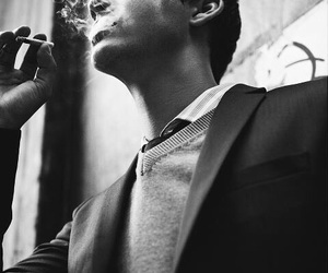 logan lerman, boy, and smoke image