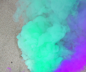 purple, smoke, and green image