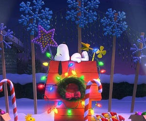 christmas and snoopy image