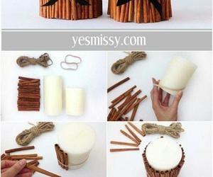 diy, candle, and Cinnamon image