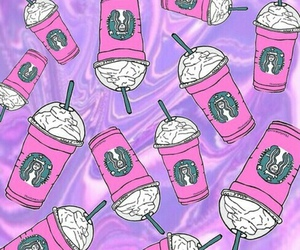starbucks, wallpaper, and pink image