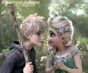 disney, jack frost, and elsa and jack image