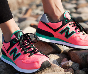 new balance, pink, and sport image