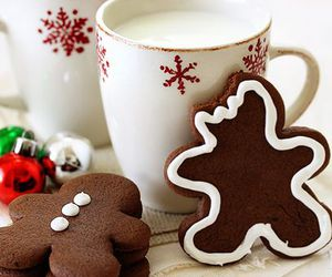 christmas, milk, and Cookies image