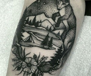 camping, fox, and Tattoos image