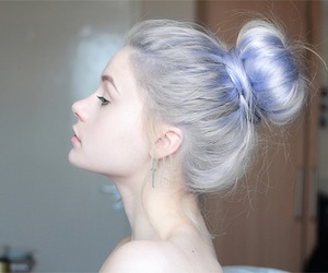 hair, blue violet, and hair goal image