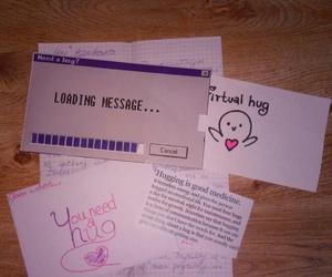 hug, Letter, and virtual hug image