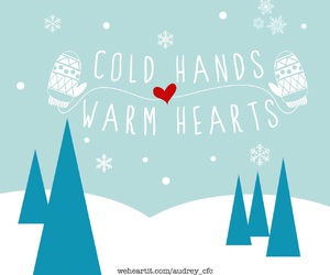 cold, hearts, and snowflake image