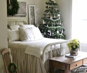 bedroom, decor, and christmas image