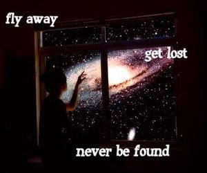 away, fly, and lost image