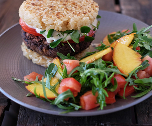 burger, food, and healthy image