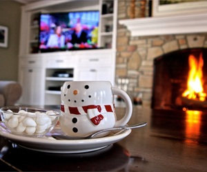 christmas, marshmallow, and snow image