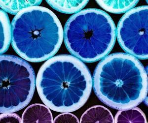 blue, fruit, and lemon image