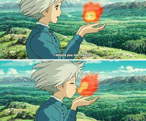 Howl, sophie, and calcifer image