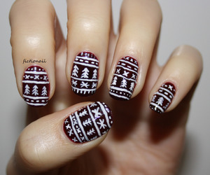 black and white, december, and art nails image