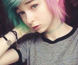 beautifull, scene, and color hair image