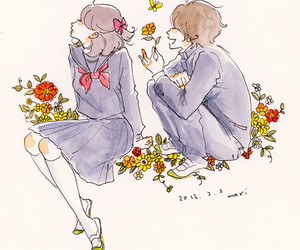anime, flower, and sweet image