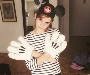 emma watson, disney, and mickey mouse image