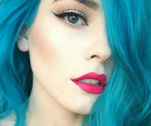 blue, ♥, and hair image