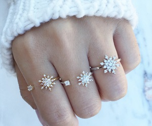 rings, winter, and ring image