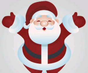 noel, santa claus, and happy christmas image