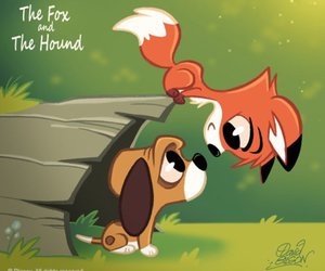 disney, fox, and the fox and the hound image